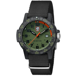 Luminox Navy Seal Watch - Giant Sea Turtle 0320 Series - Green/Orange