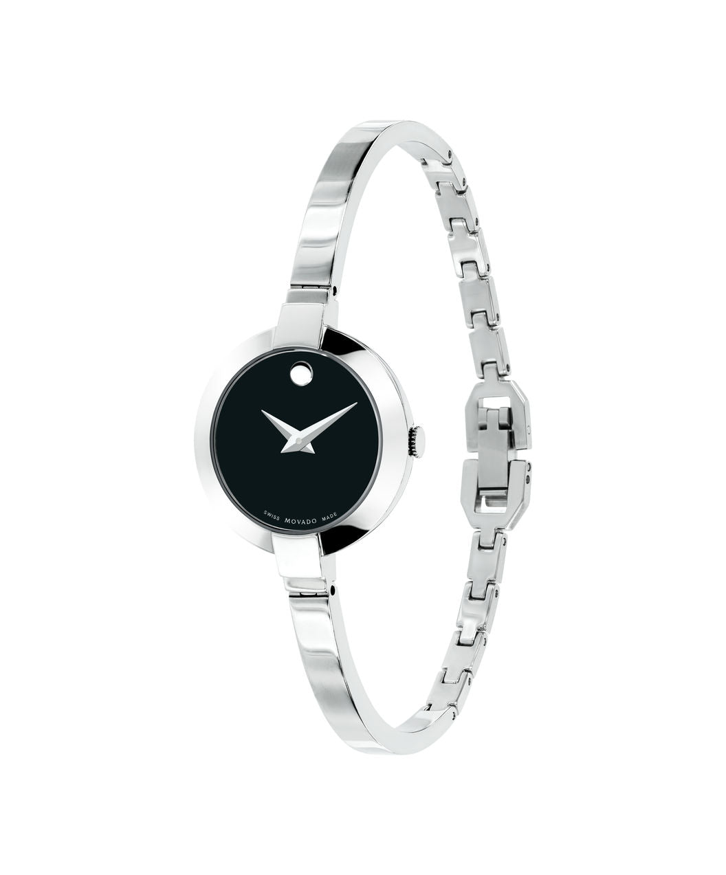 Ladies Movado Bela Stainless Steel with Black Dial