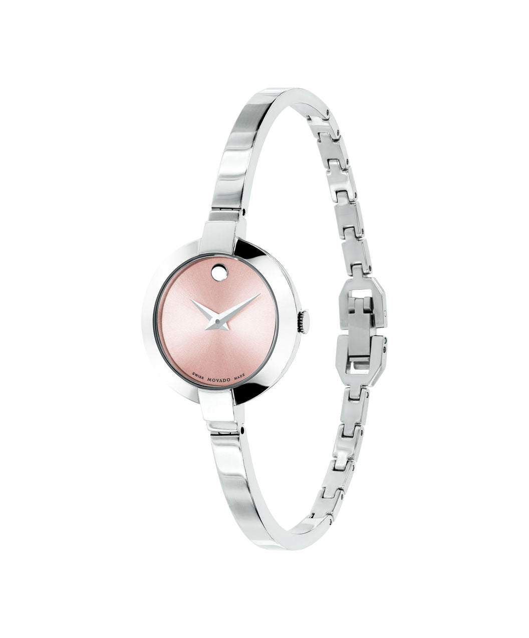 Ladies Movado Bela Stainless Steel with Pink Dial