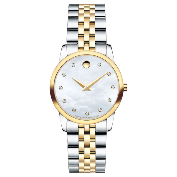 Ladies Movado Museum Two Tone with Mother Of Pearl Dial