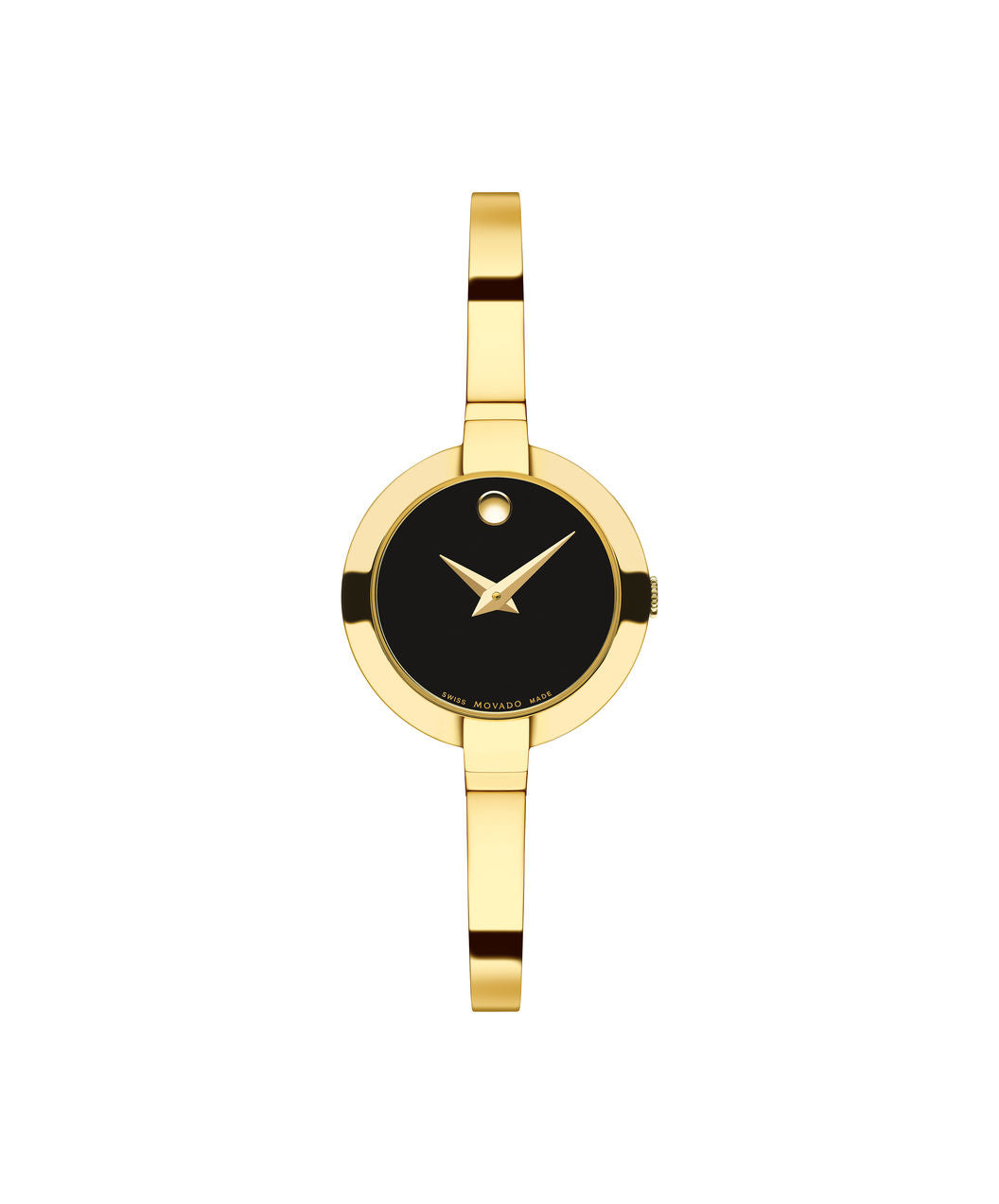 Ladies Movado Bela Gold Tone with Black Dial
