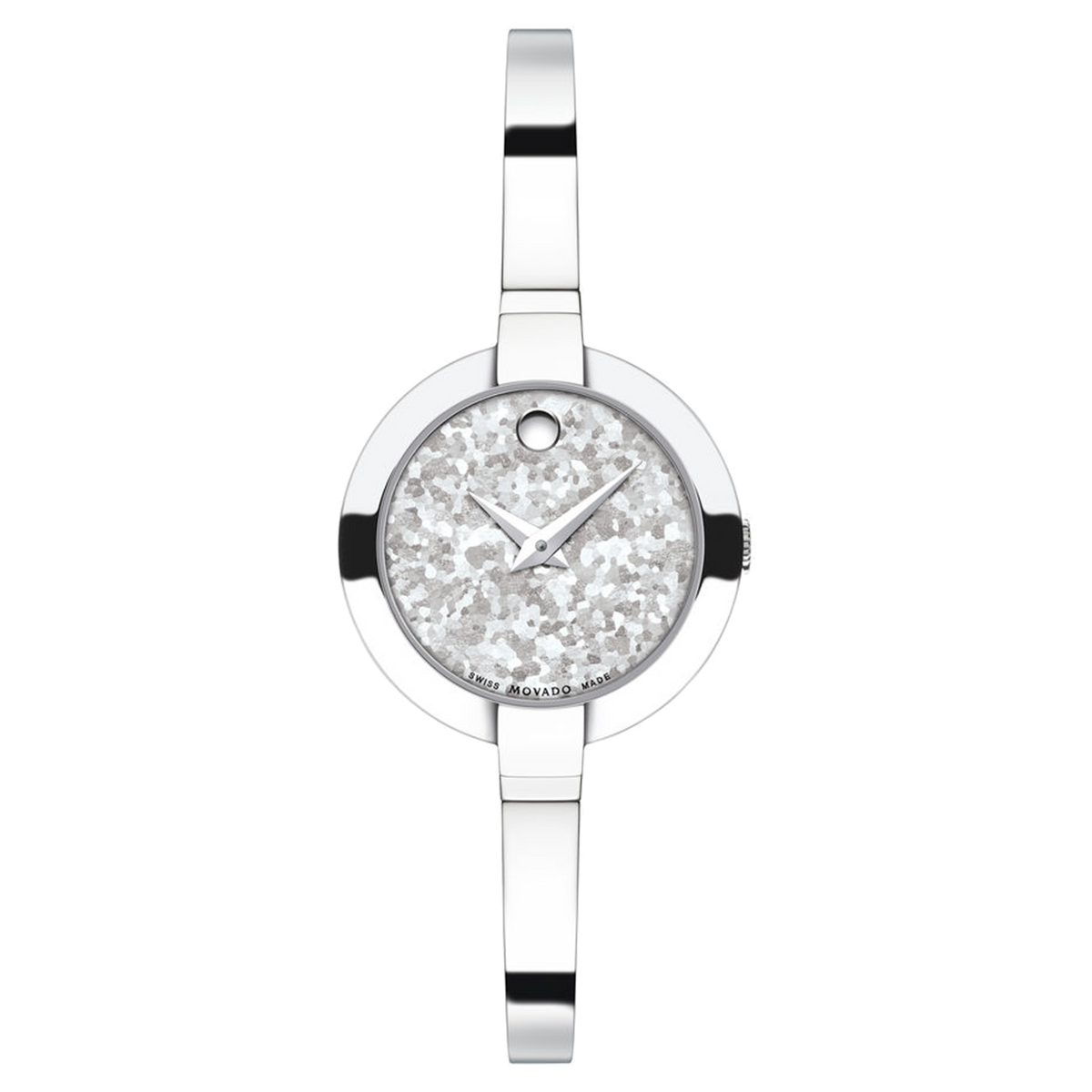 Ladies Movado Bela Stainless Steel with Crushed Titanium Dial