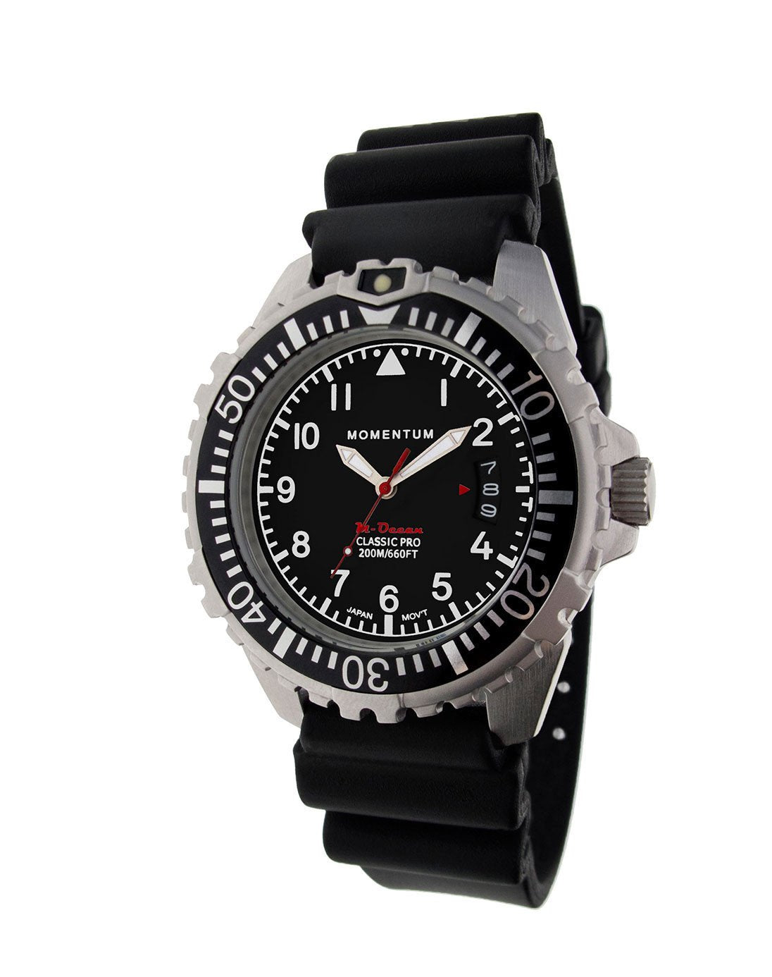 Momentum M-Ocean - Black Dial with Black Rubber