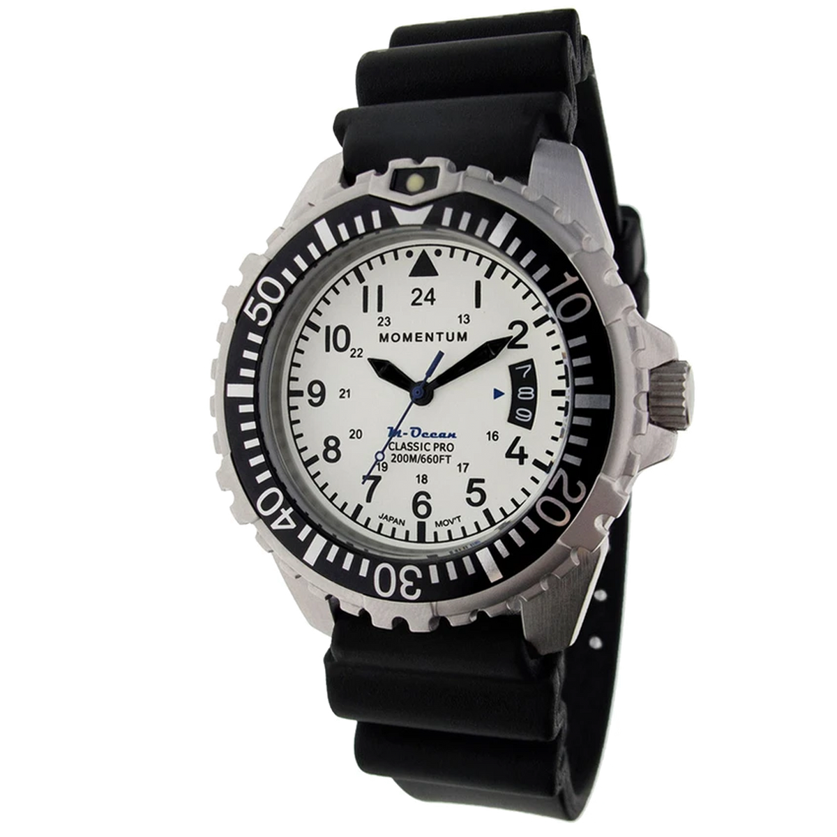 Momentum M-Ocean - White Dial with Black Rubber