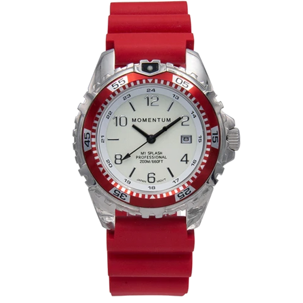 Momentum M1 Splash - White Dial with Red Rubber
