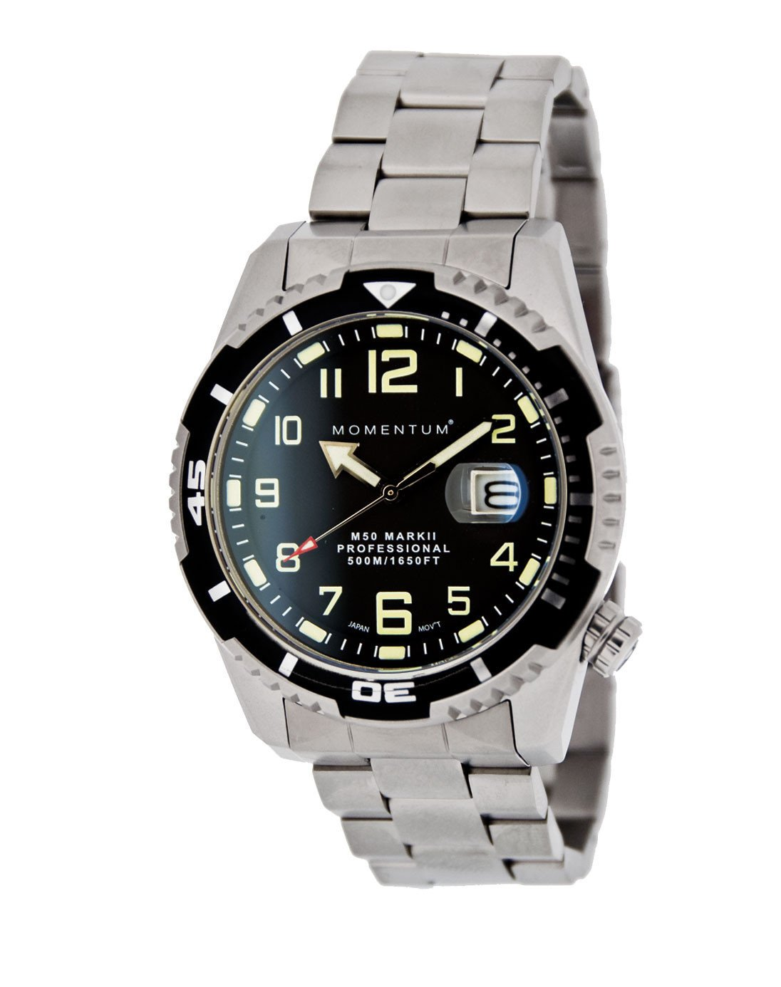 Momentum Watch - M50 Military Dive - Black Dial on Steel bracelet