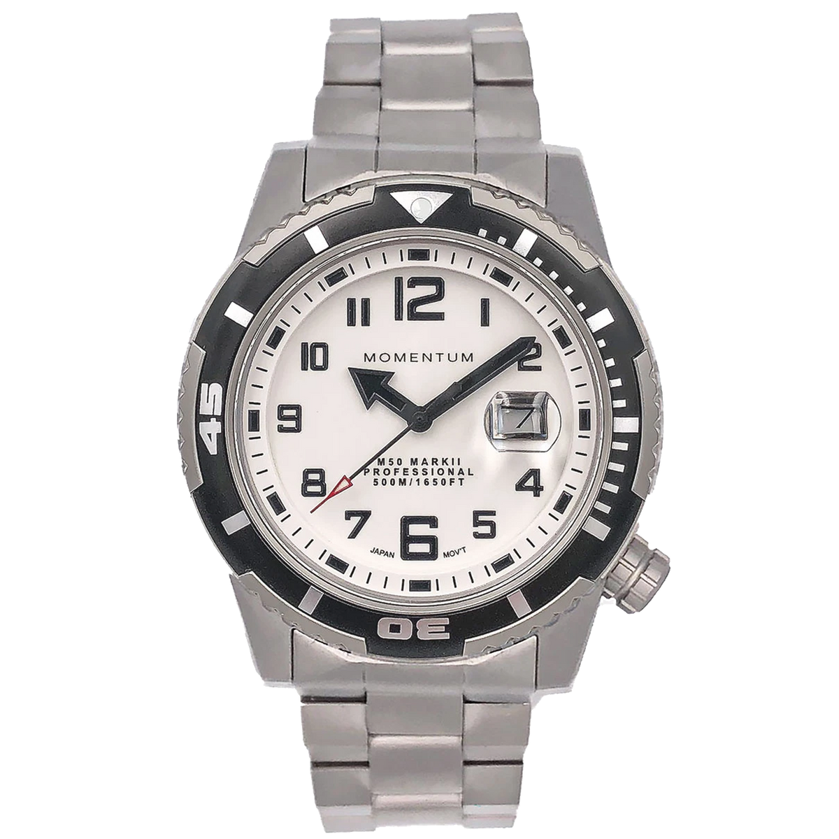 Momentum Watch - M50 Military Dive - White Dial on Steel bracelet