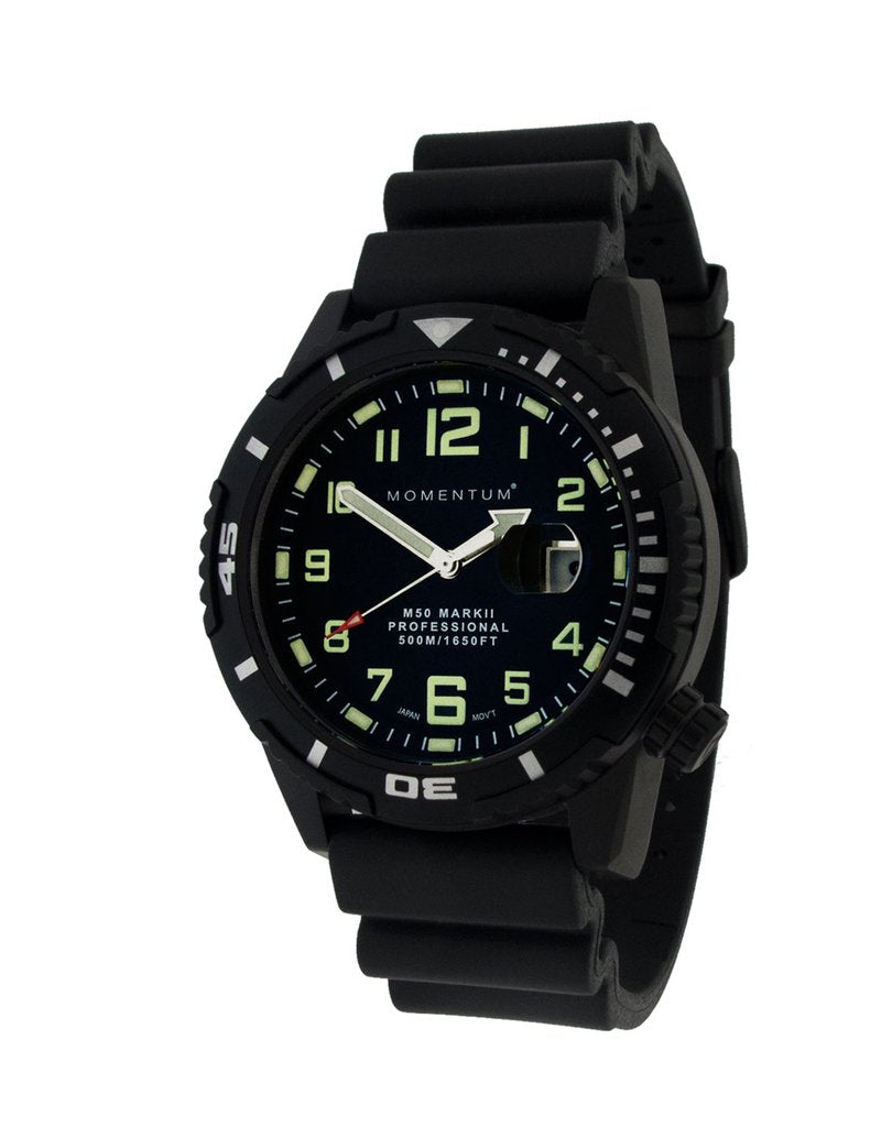 Momentum Watch - M50 Military Dive - Black Steel