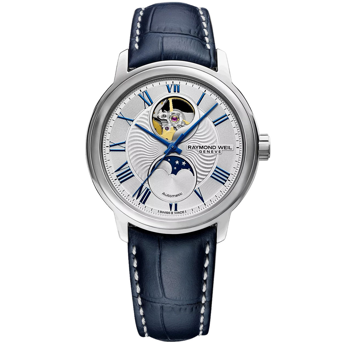 Raymond Weil Watch - 39.5mm Maestro Moon Phase Automatic