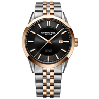Raymond Weil Watch - FREELANCER Men's Automatic Two Tone with Rose Gold