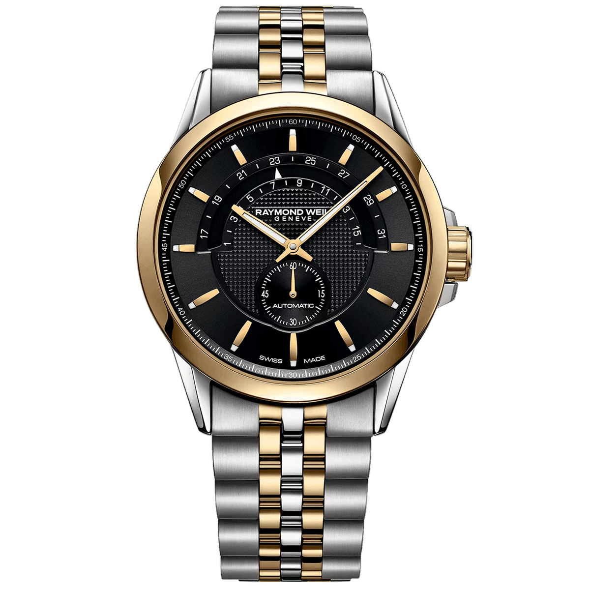 Raymond Weil Watch - 42mm Freelancer Men's Half-moon Two-Tone Automatic