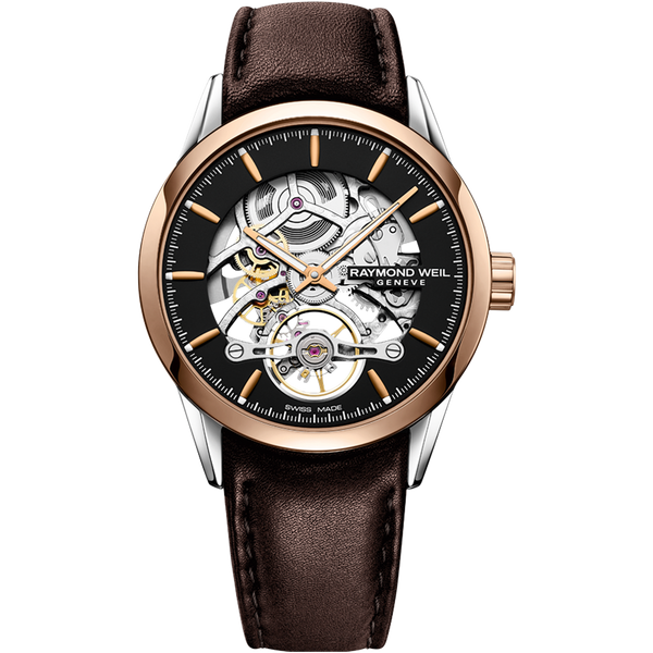 Raymond Weil Watch - FREELANCER Calibre RW1212 Skeleton Automatic Silver & Rose-Tone PVD