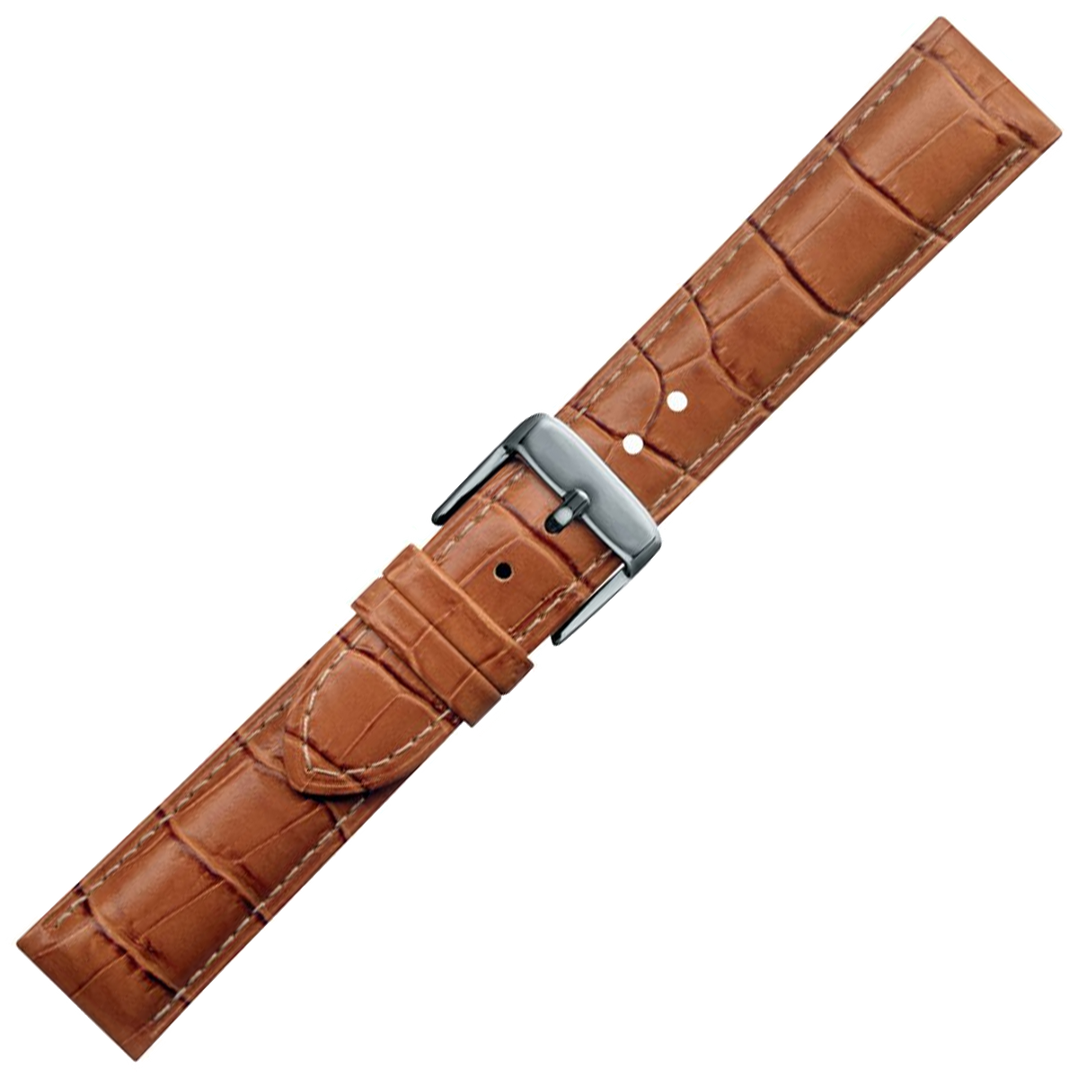 Condor Watchstrap - Crocodile Print Embossed Leather