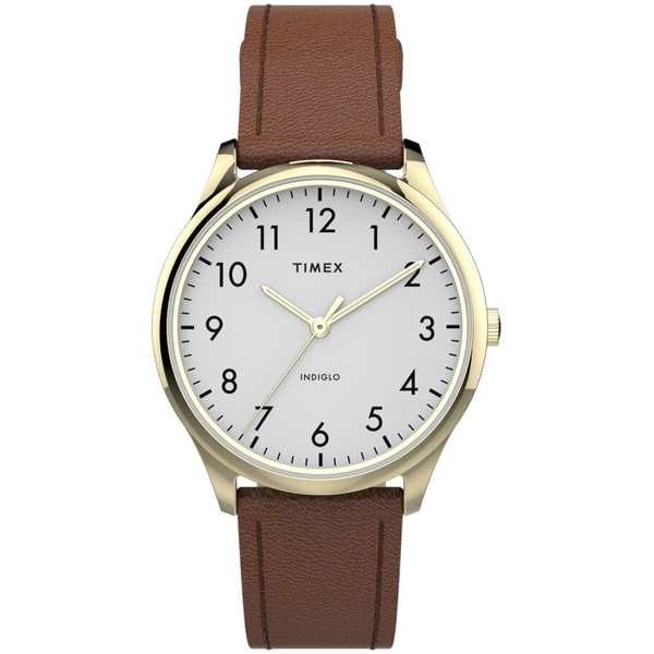 Timex - Modern Easy Reader 32mm Leather Strap Watch