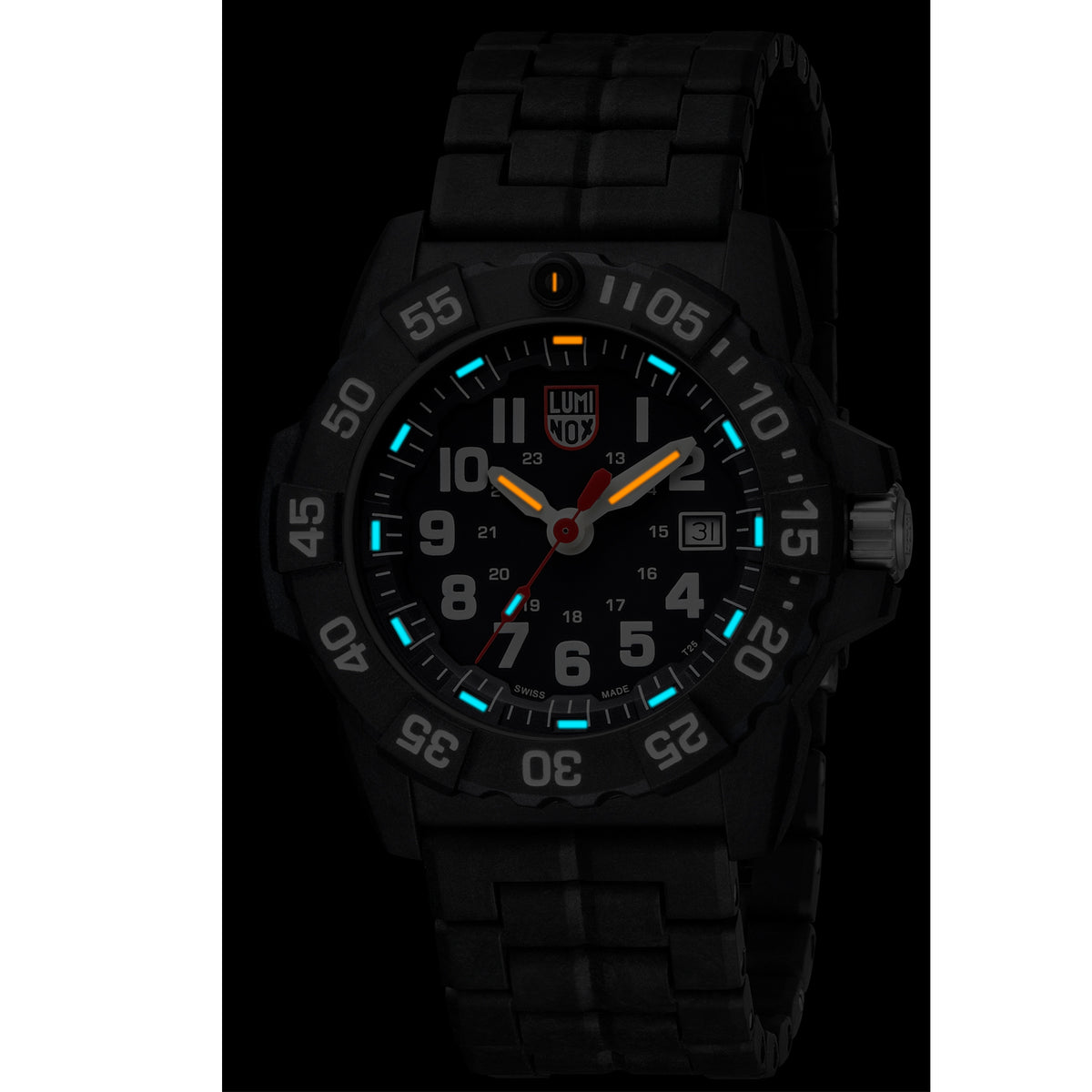 Luminox Navy Seal Watch - 3500 Series BLK/WHT with Carbon Strap