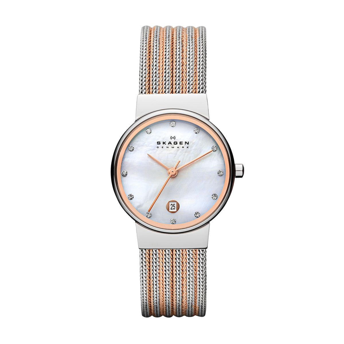 Skagen Ancher - Steel, Two Tone Rose Gold