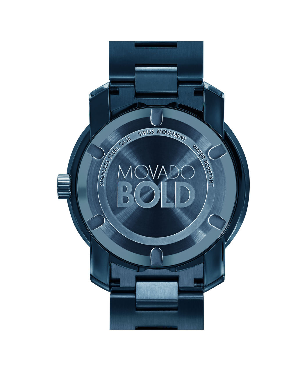 Movado Bold - Large Ink Stainless Steel