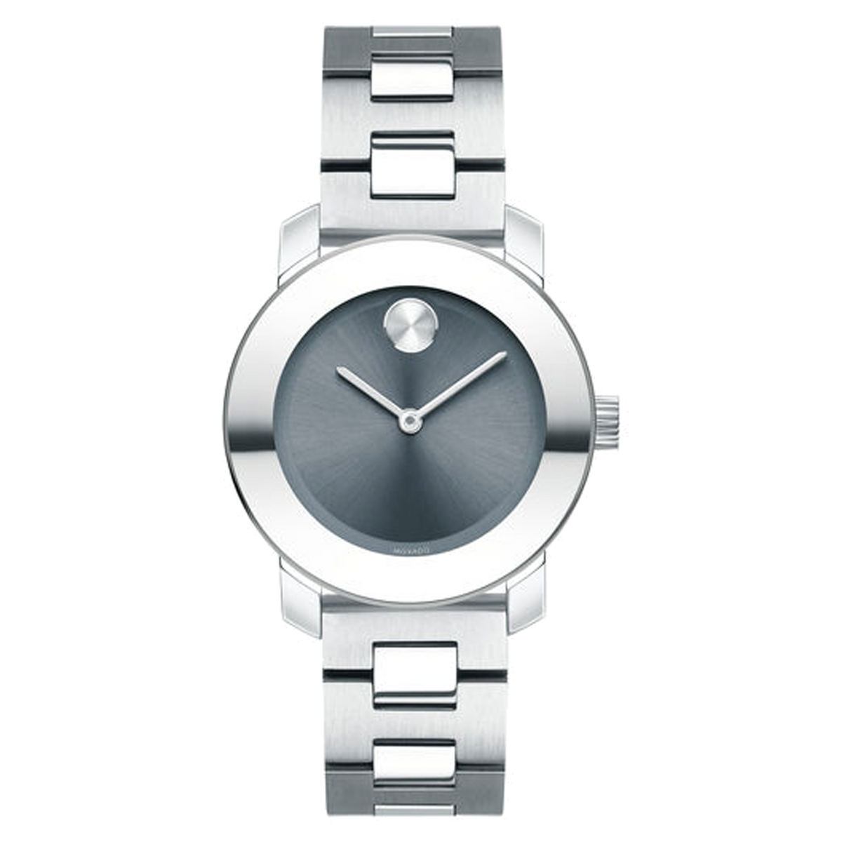 Movado Bold - Stainless Steel with Steel-Blue Dial