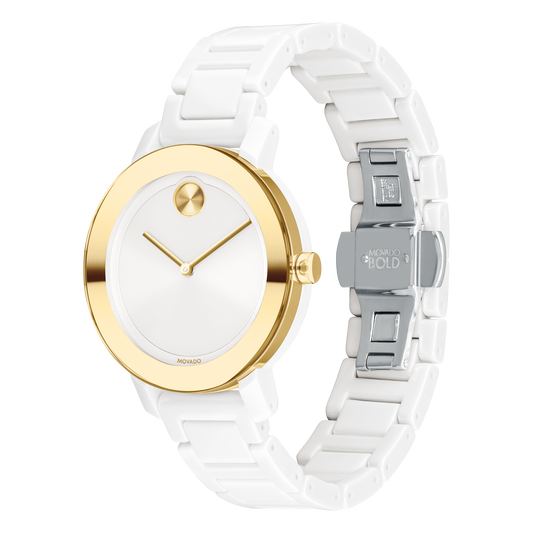 Movado Bold 36mm - White Ceramic