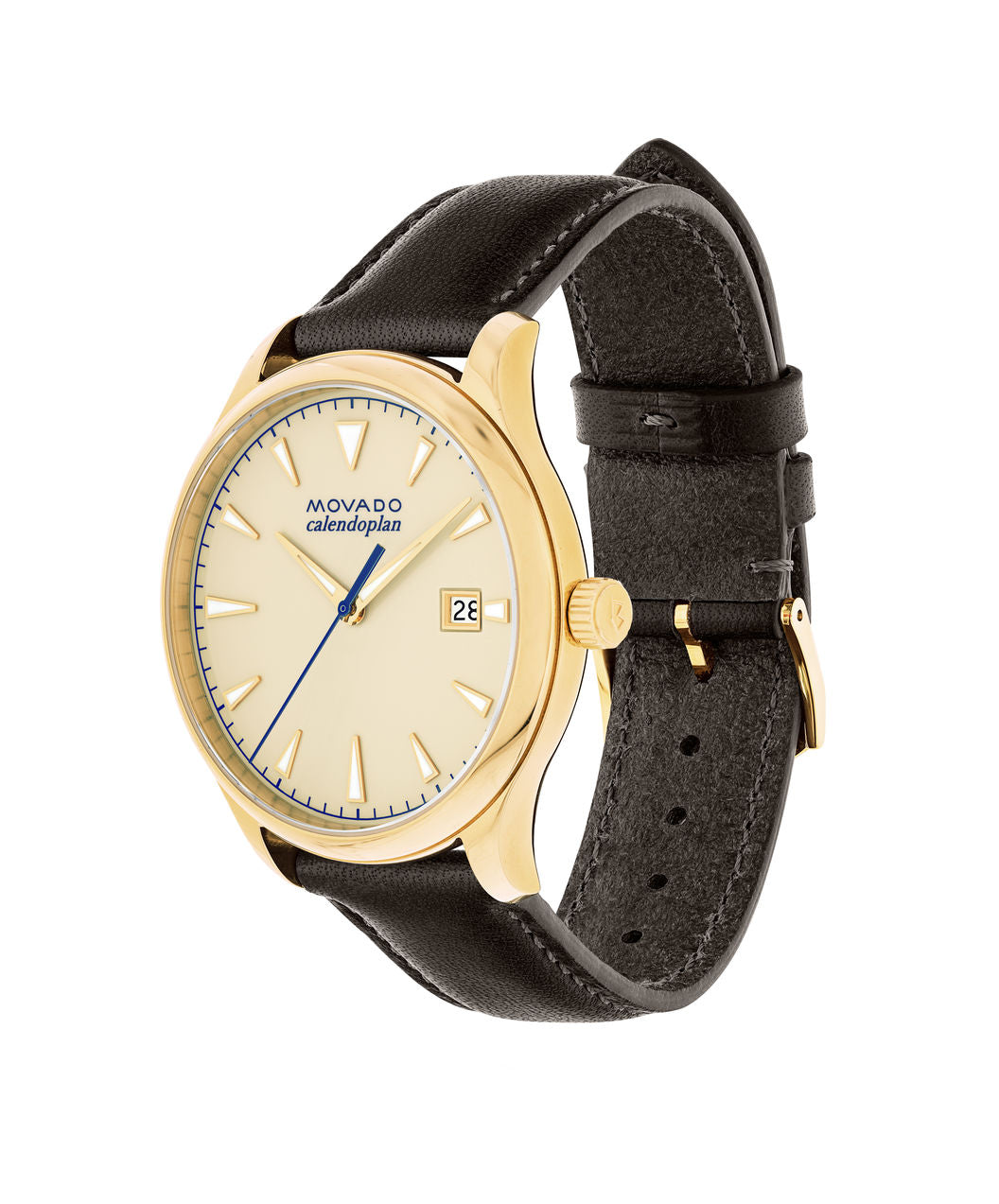 Movado Watch Heritage Series - Calendoplan Gold Tone
