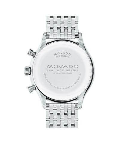 9ac695d46 ... Movado Watch Heritage Series - Calendoplan Chronograph Stainless Steel  on Bracelet