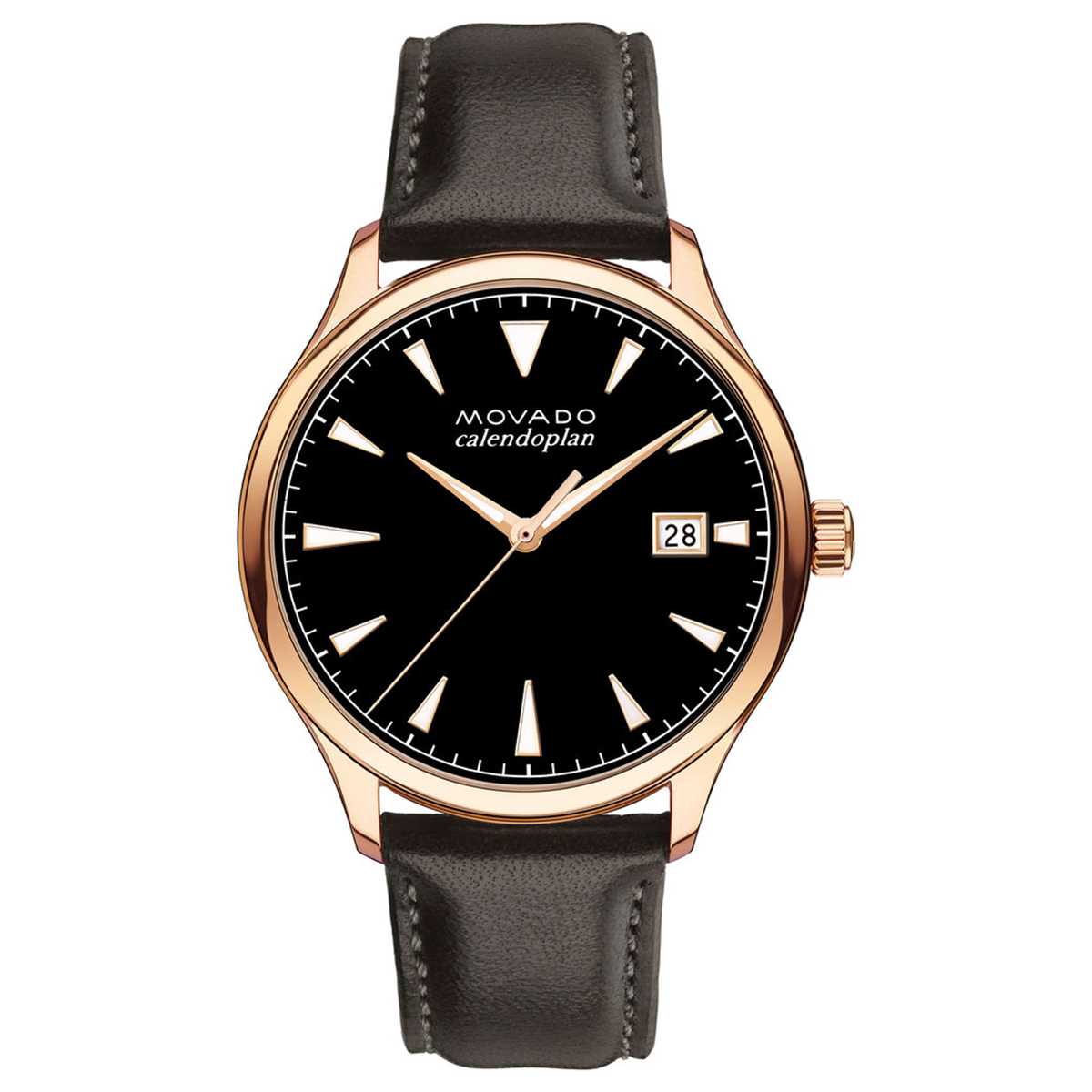 Movado Watch Heritage Series - Calendoplan Rose Gold Tone