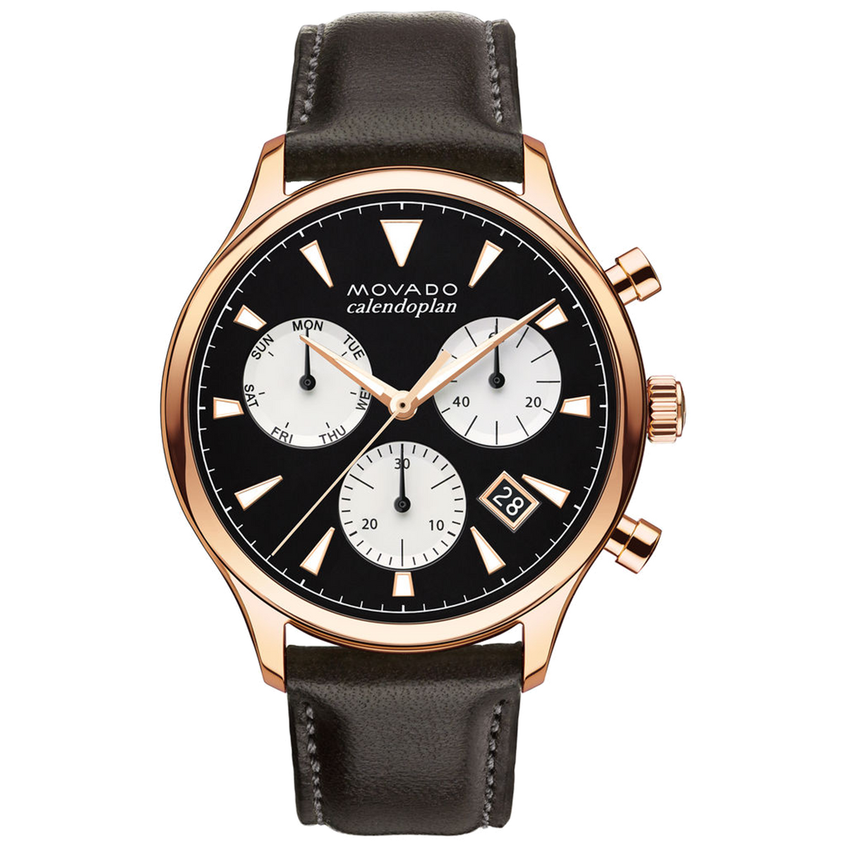 Movado Watch Heritage Series - Calendoplan Chronograph RG/T