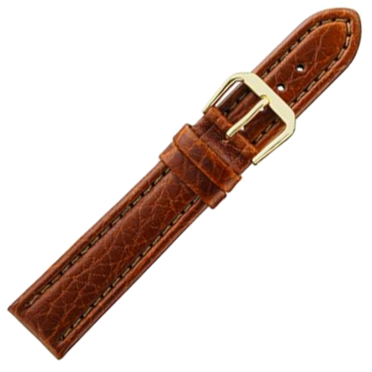 Alpine Watchstrap - Padded stitched Italian Leather