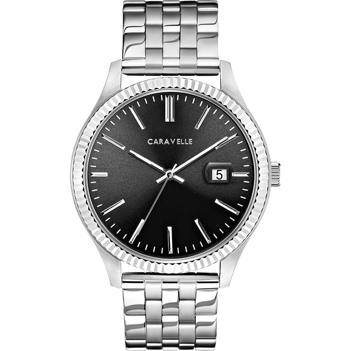 Caravelle Watch - Stainless Steel