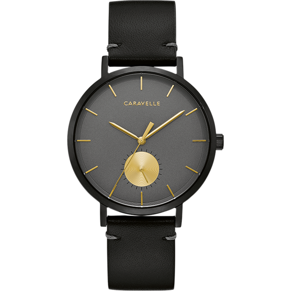 Caravelle Watch - Black Steel with Gold Accents