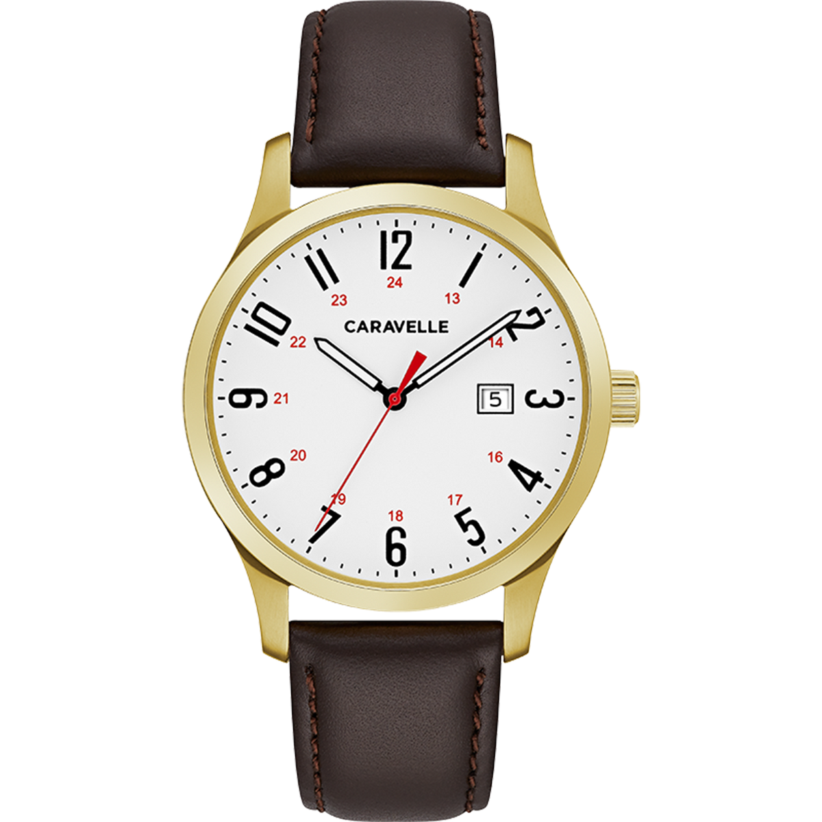 Caravelle Watch - 24H Dial