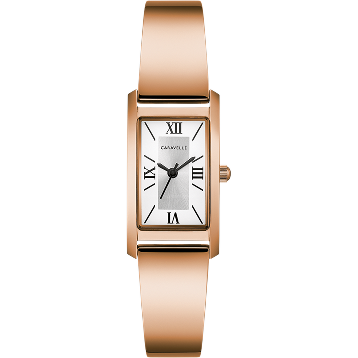 Caravelle Watch - Ladies Rose Gold Tone Bangle