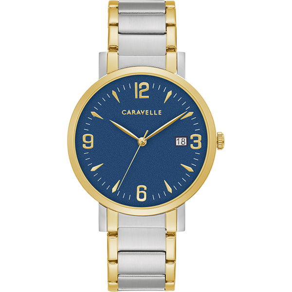 Caravelle Watch - Two-Tone with Blue Dial