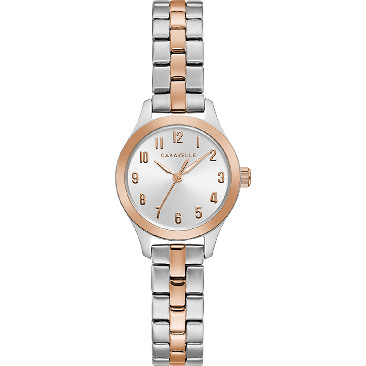 Caravelle Watch - Dress Collection - Two-Tone with Rose Gold