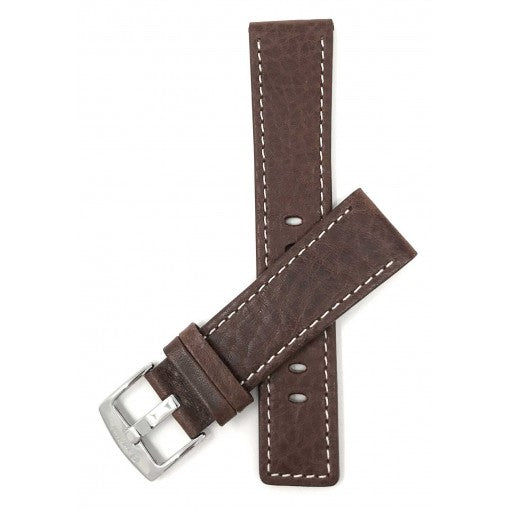 Bandini Watchstrap Genuine Leather - Classic Semi Padded Contrast Stitched