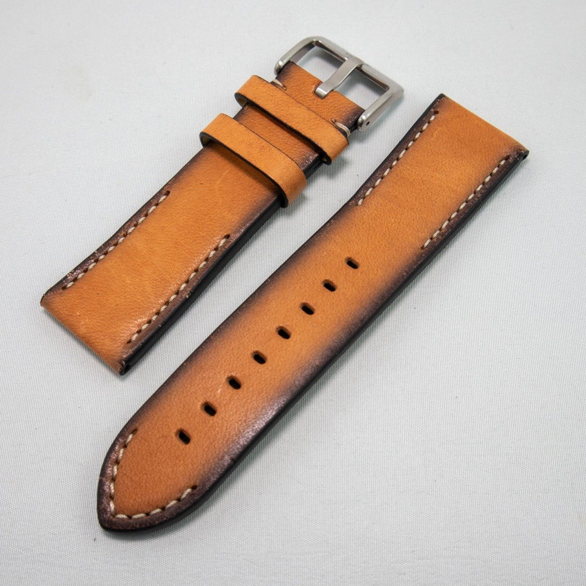 Alpine Watchstrap - Hand painted Leather