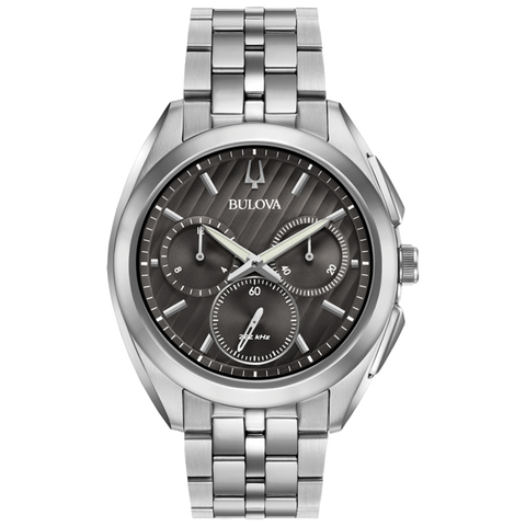 64c221464 Bulova - Men's Curv Chronograph Watch - Stainless Steel with Black Dia –  Halifax Watch Company