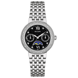 Bulova - Women's Classic Diamond Moon Phase Watch