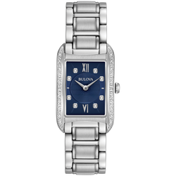 Bulova - Women's Classic Diamond Watch with Blue Dial