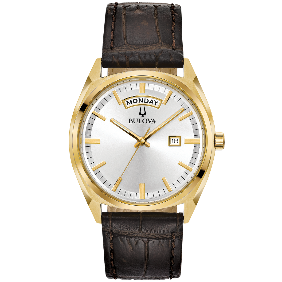 Bulova - Men's Classic Watch in Gold Tone with Day/Date