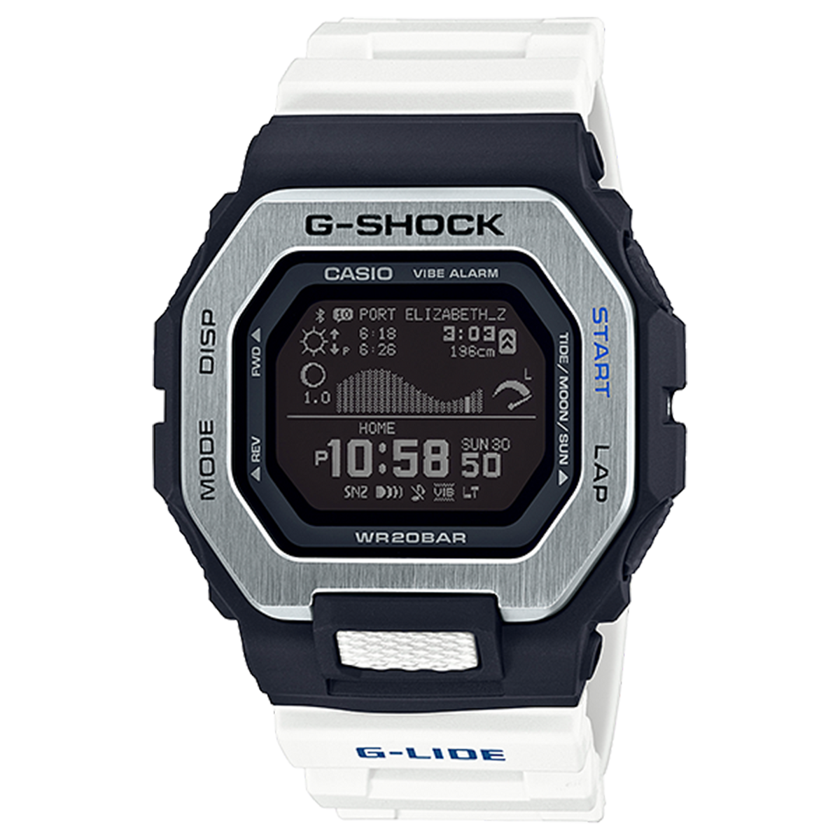 Casio G-Shock - G-Lide Connected Black/White