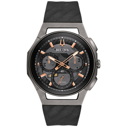 Bulova - Men's Curv Chronograph Titanium Watch