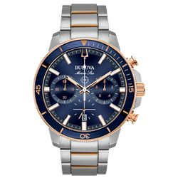 Bulova - Marine Star Chronograph Two Tone Rose Gold