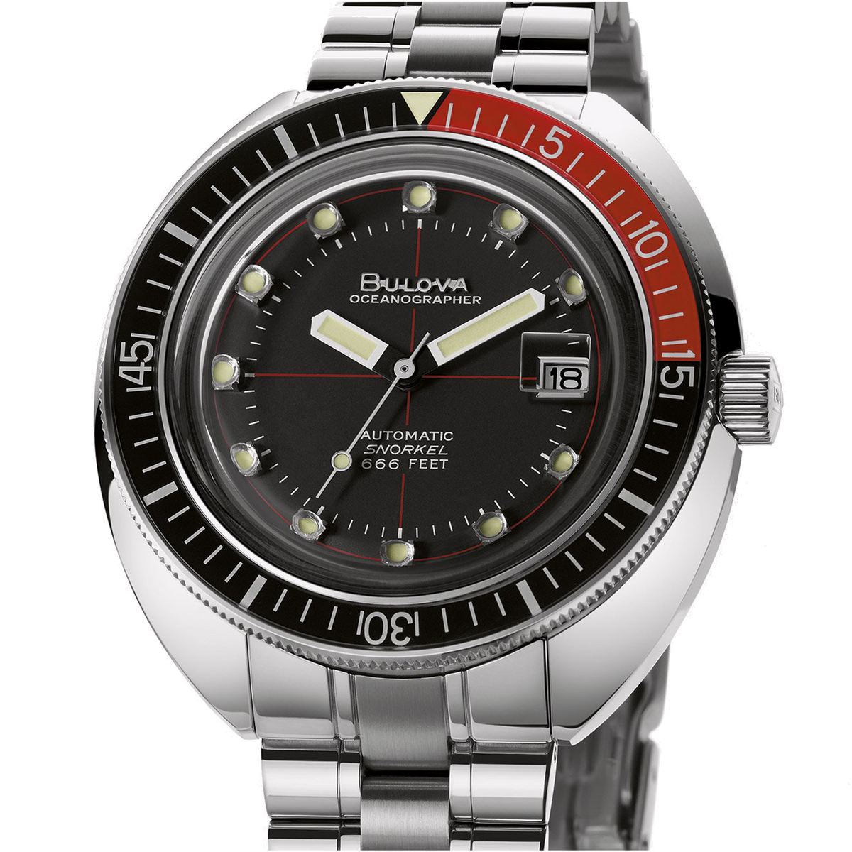 "Bulova - OCEANOGRAPHER ""DEVIL DIVER"" Black/Red"