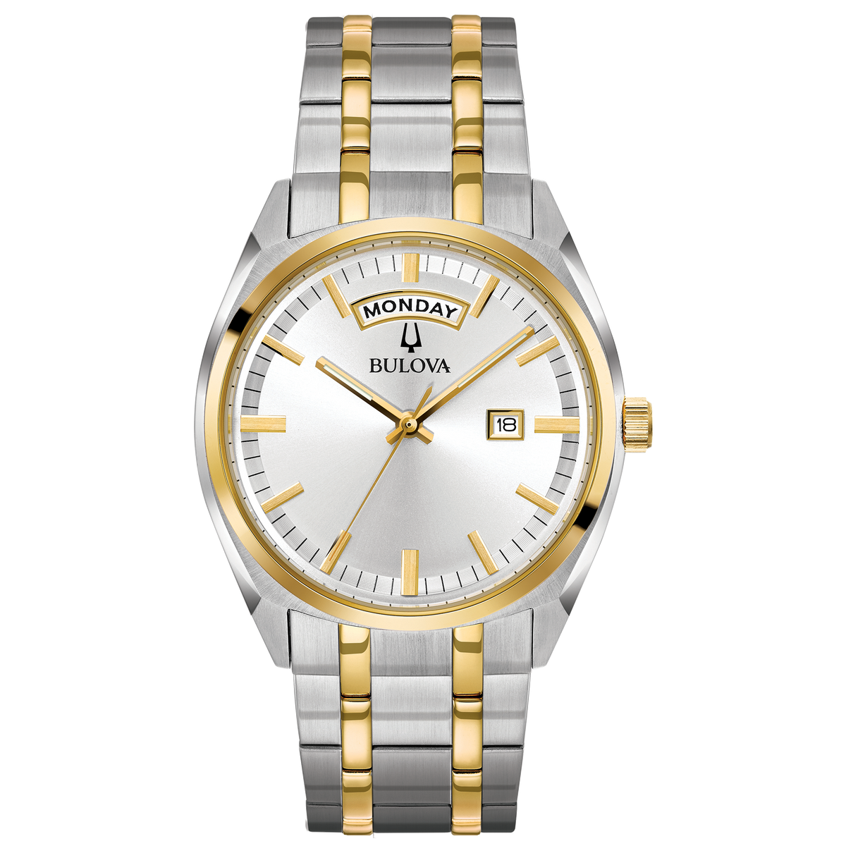 Bulova - Men's Classic Watch Two Tone with Day/Date
