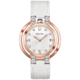 Bulova - Ladies' Rubaiyat Collection - Rose Gold with White Leather