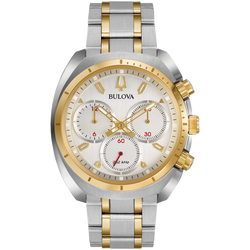 Bulova - Men's Curv Chronograph Watch - Two Tone