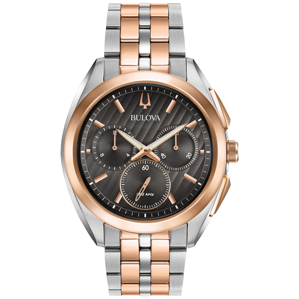 Bulova - Men's Curv Chronograph Watch - Two Tone Rose Gold
