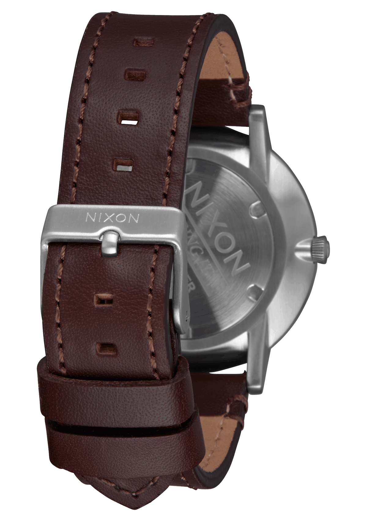 Nixon Watch - Porter 40mm Leather: Navy/Brown