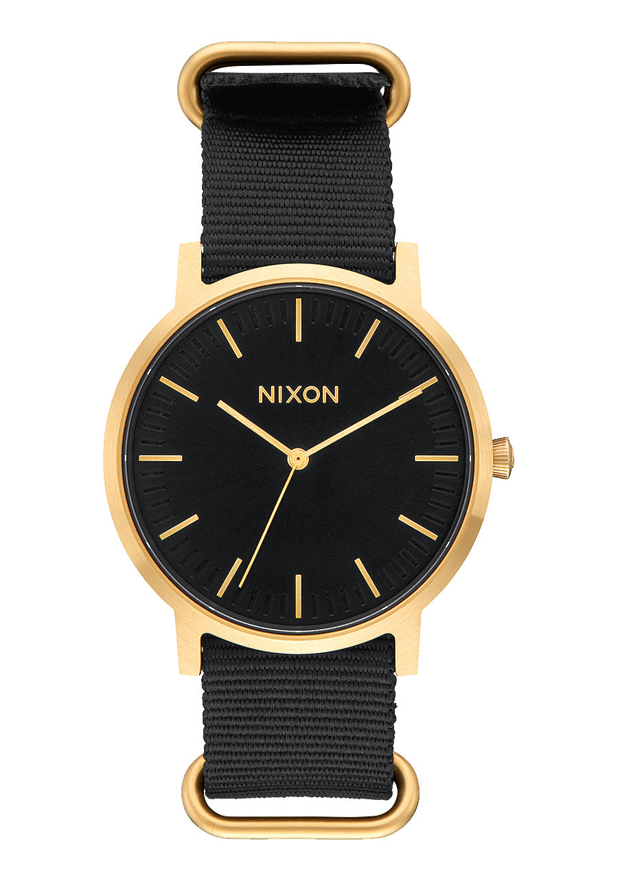 Nixon Watch - Porter 40mm Nylon: Gold/Black